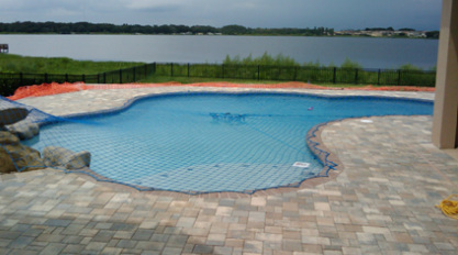 custom swimming pool safety net in New Tampa, Wesley Chapel fl